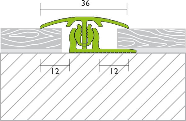 onlineshop von holzland k hrmann proline provarioclip universal bergangsprofil 7 18mm 100cm. Black Bedroom Furniture Sets. Home Design Ideas